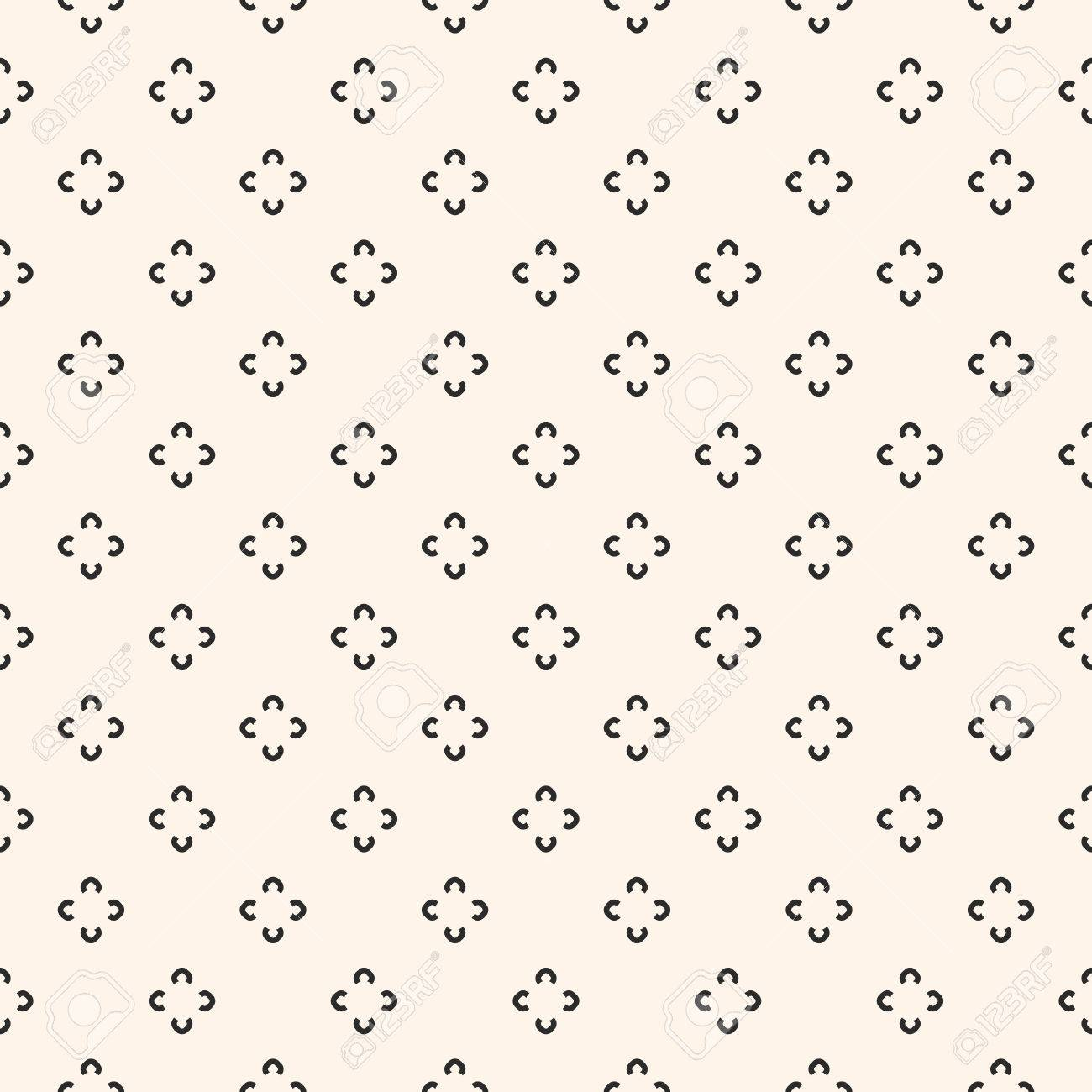 9649fcd61 Simple floral pattern. Vector minimalist seamless texture with tiny flower  shapes. Abstract minimal geometric
