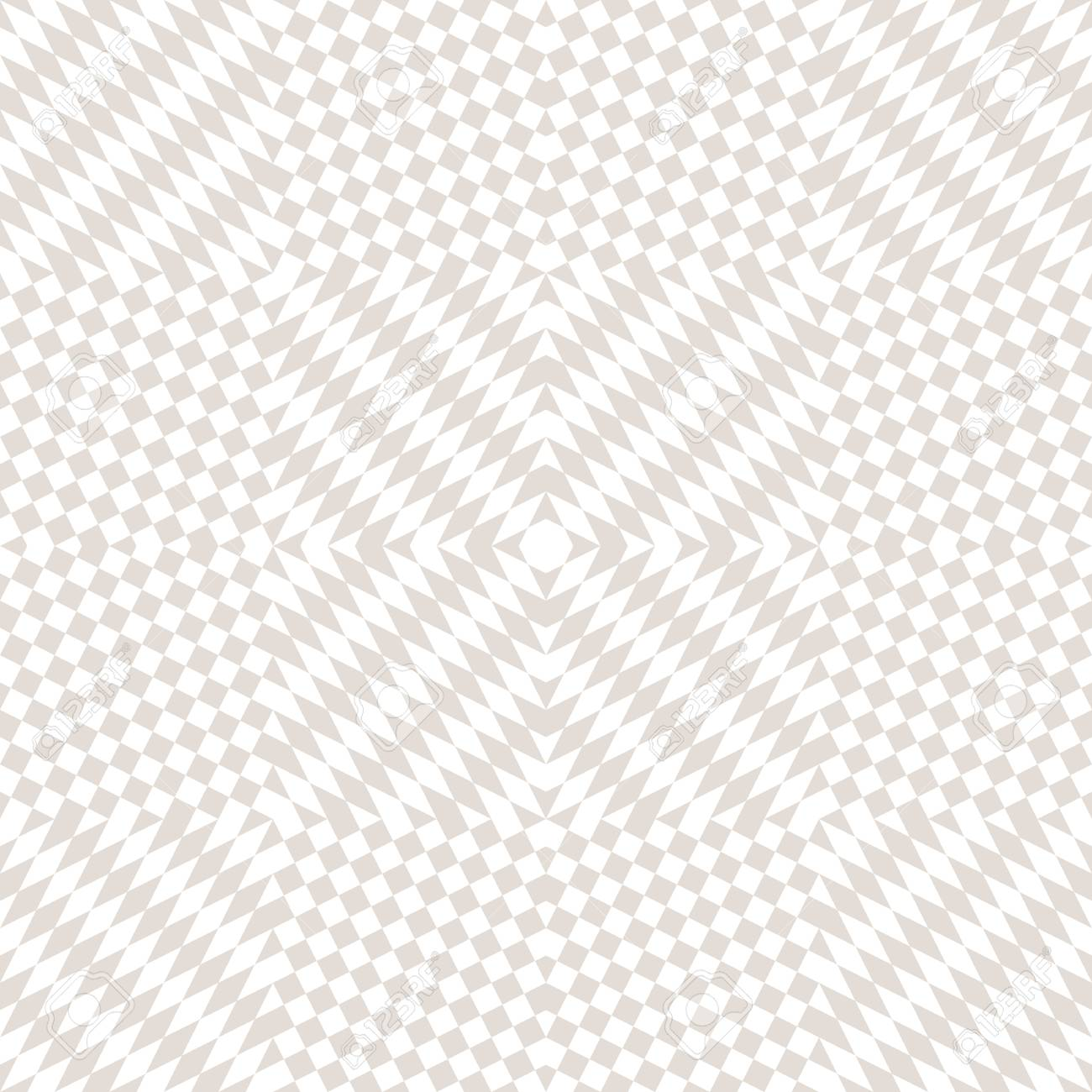 Subtle vector checkered seamless pattern  White and beige staggered