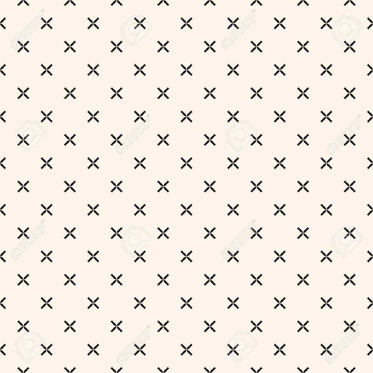 Simple Geometric Floral Pattern Black And White Minimalist