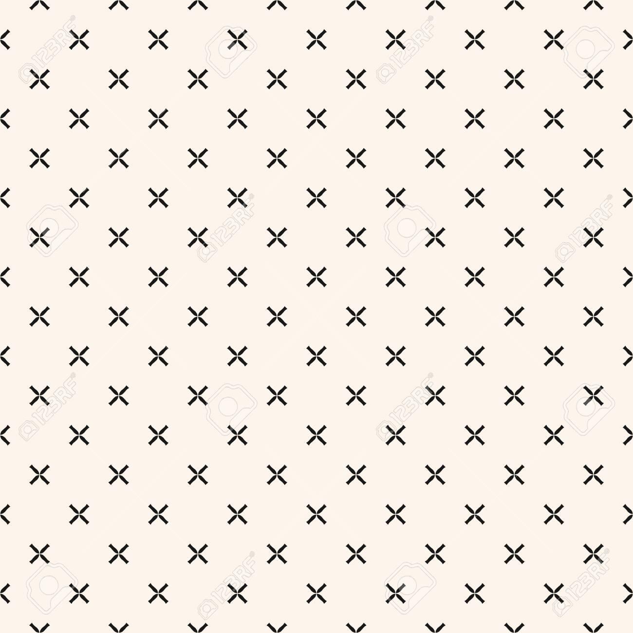 Simple Geometric Floral Pattern Black And White Minimalist