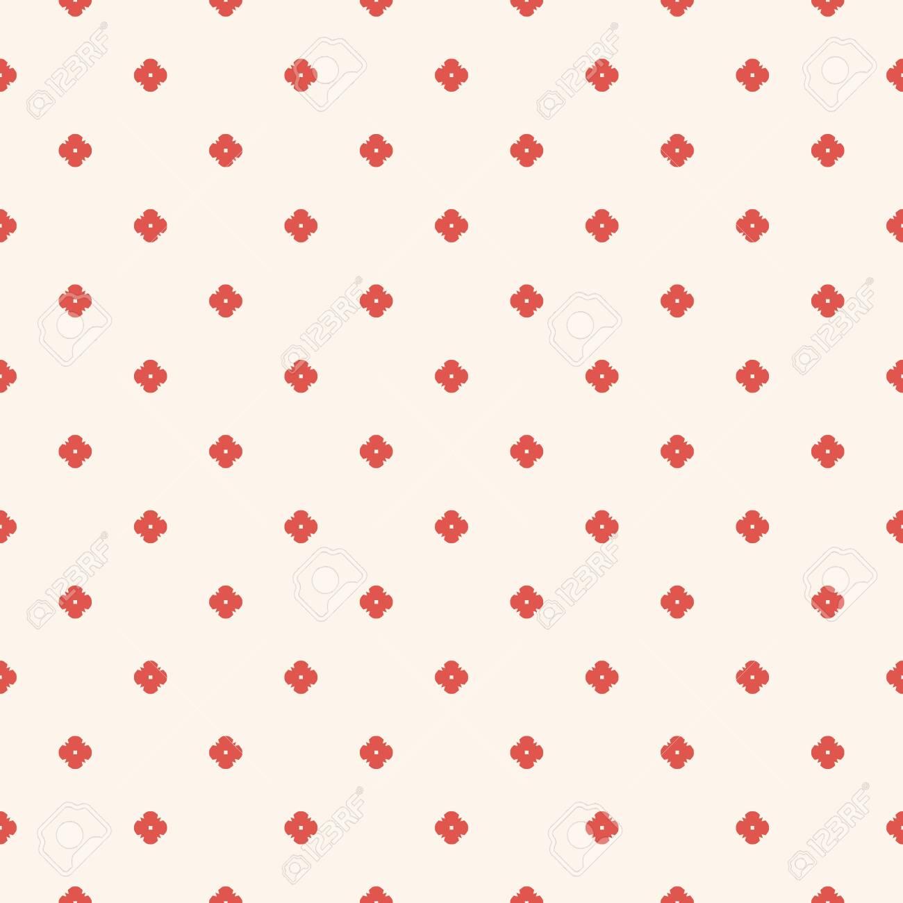 Vector Minimalist Floral Seamless Pattern Simple Minimal
