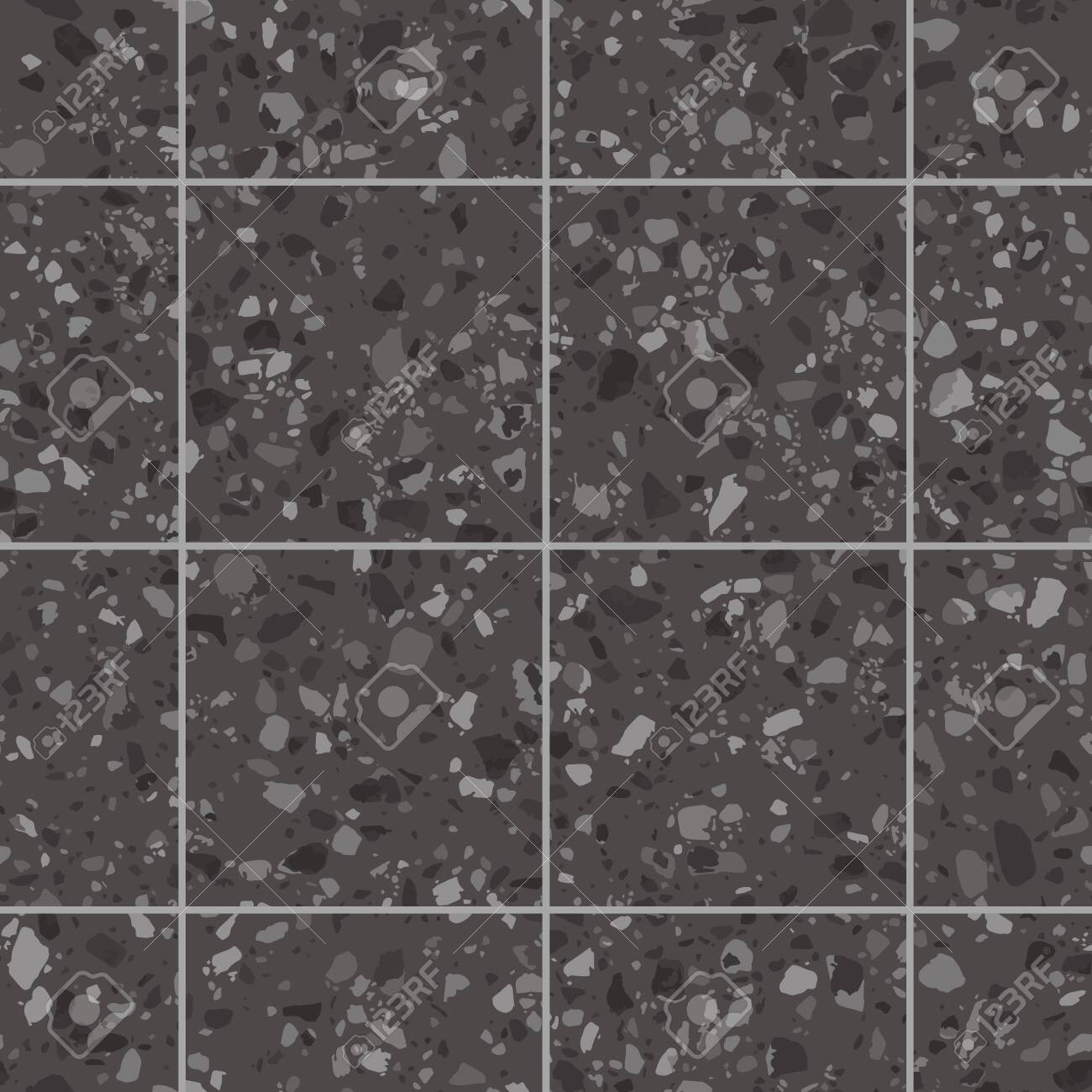 Black Granite Terrazzo Flooring Texture With Square Tiles Vector Royalty Free Cliparts Vectors And Stock Illustration Image 138980902