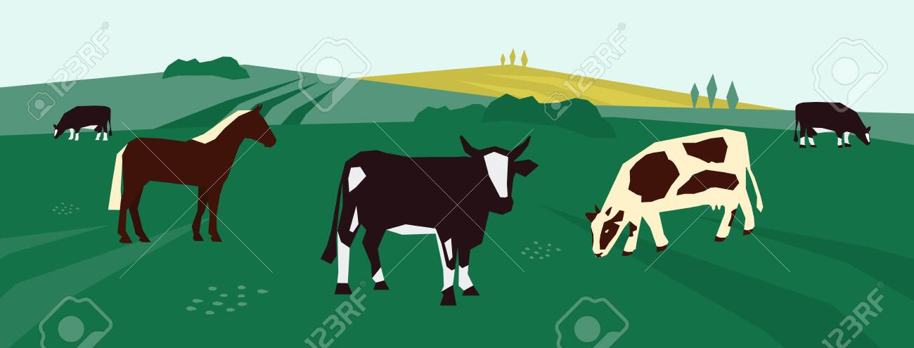 Background For Farming Or Livestock Company Vector Illustration Royalty Free Cliparts Vectors And Stock Illustration Image 138258980