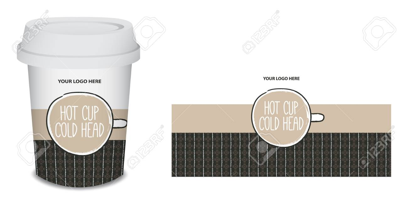 Paper Cup Mug Coffee Design For Your Company In Vector White Stock Photo Picture And Royalty Free Image Image 96378255