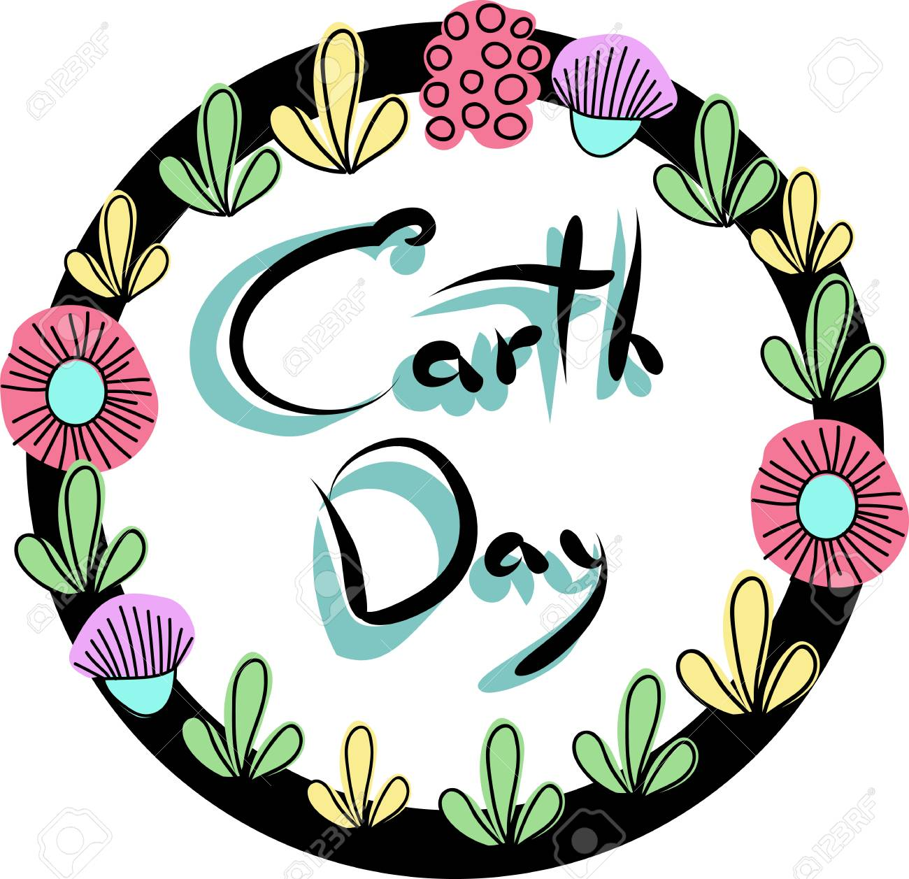 Earth Day. The Inscription In The Frame Royalty Free Cliparts ...