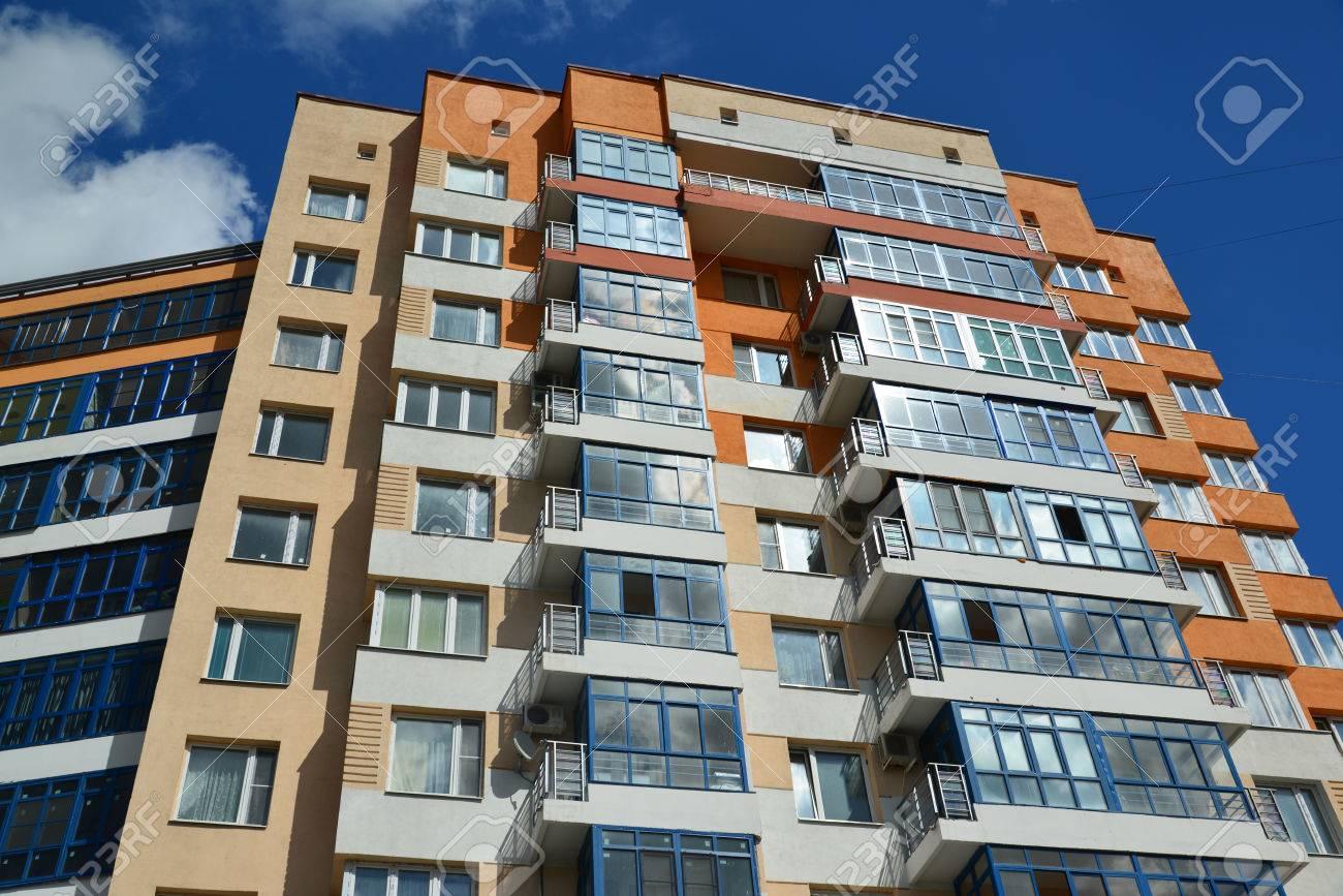 A Facade of a modern apartment building - 56219857