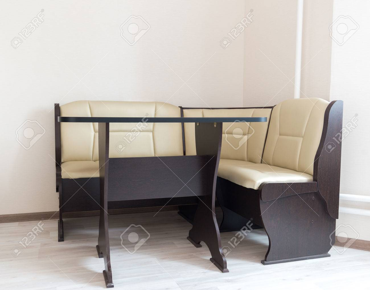 Kitchen Corner Sofa And Table In The Interior Stock Photo Picture And Royalty Free Image Image 77904815