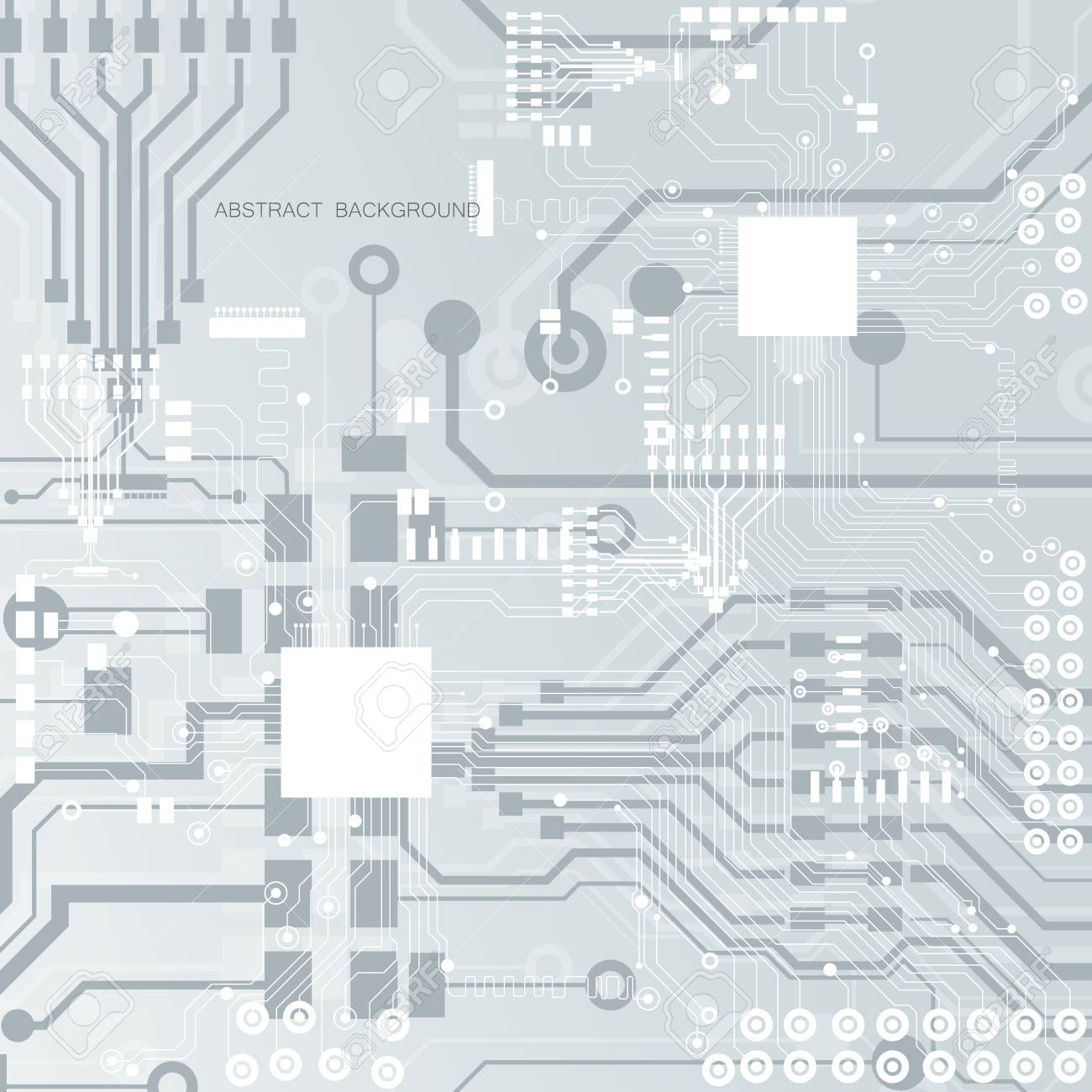 Vector Circuit Board Illustration Abstract Technology Royalty Free Stock 97928817