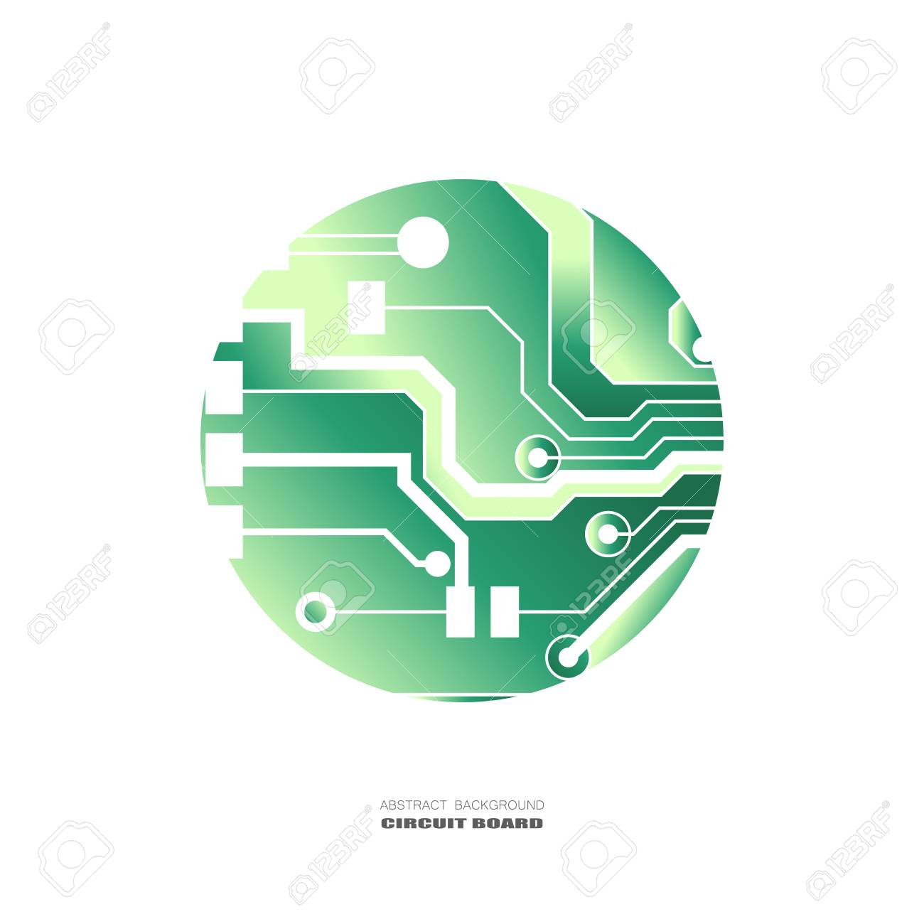 Vector Circuit Board Illustration Abstract Technology Microchip Background Stock 99068029
