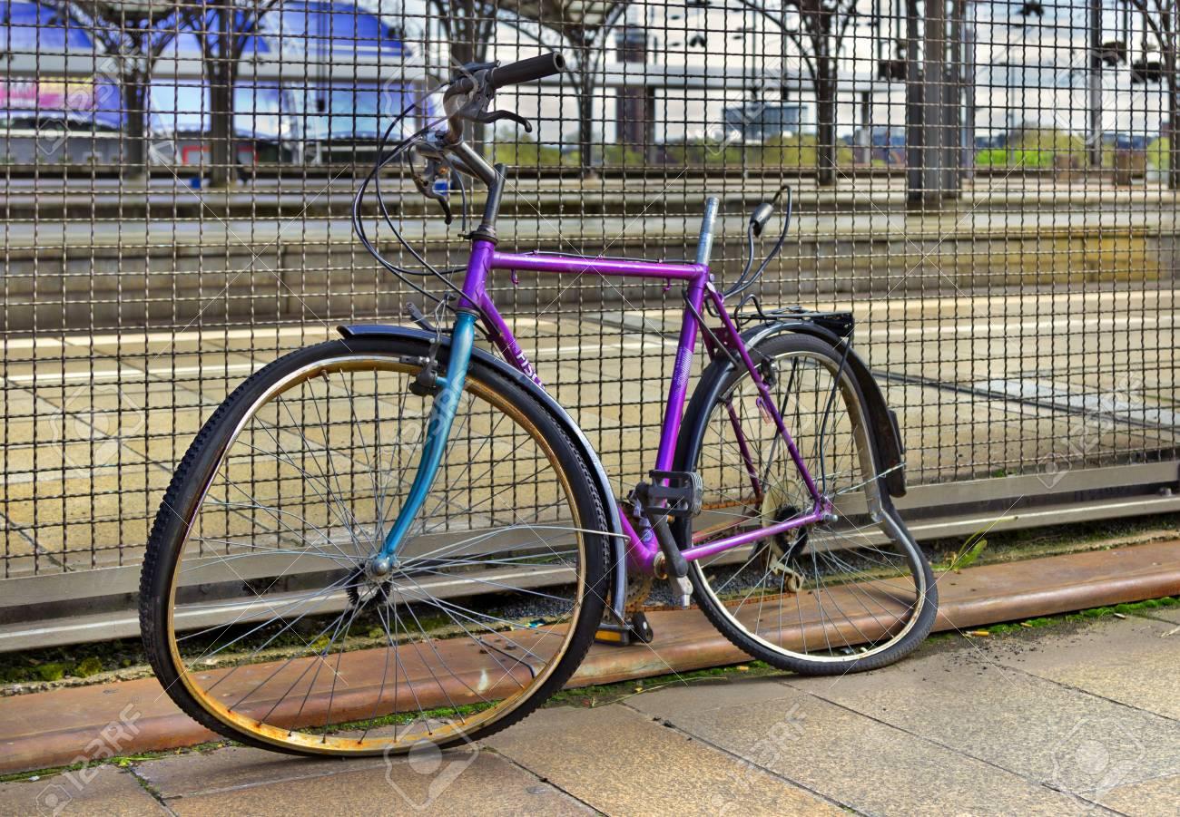 La Germania Colonia 27 Aprile Bicicletta Rotta Sulla Via Della Città Il 27 Aprile 2014 In Germania