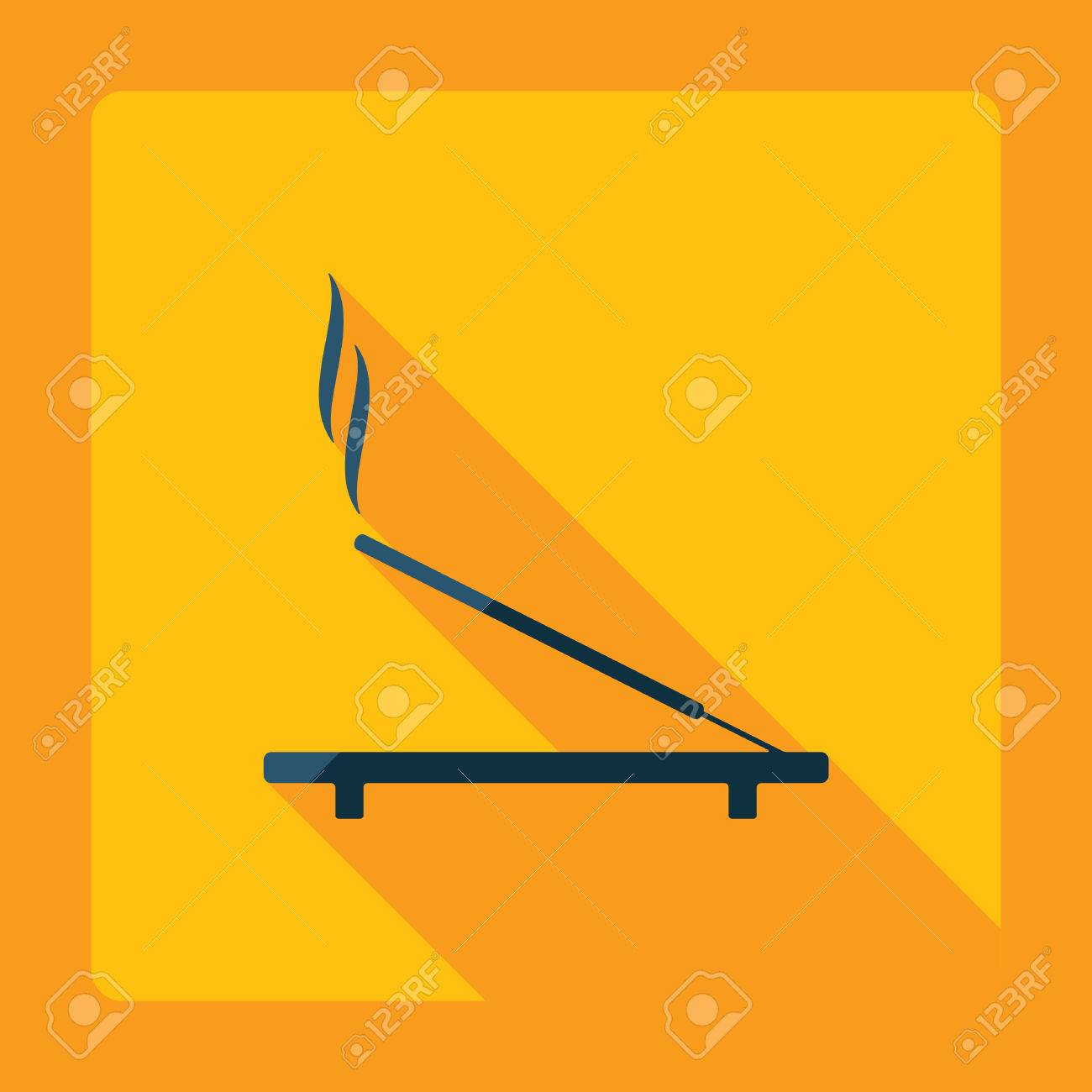 Flat Modern Design With Shadow Incense Sticks Royalty Free Cliparts Vectors And Stock Illustration Image 53022792
