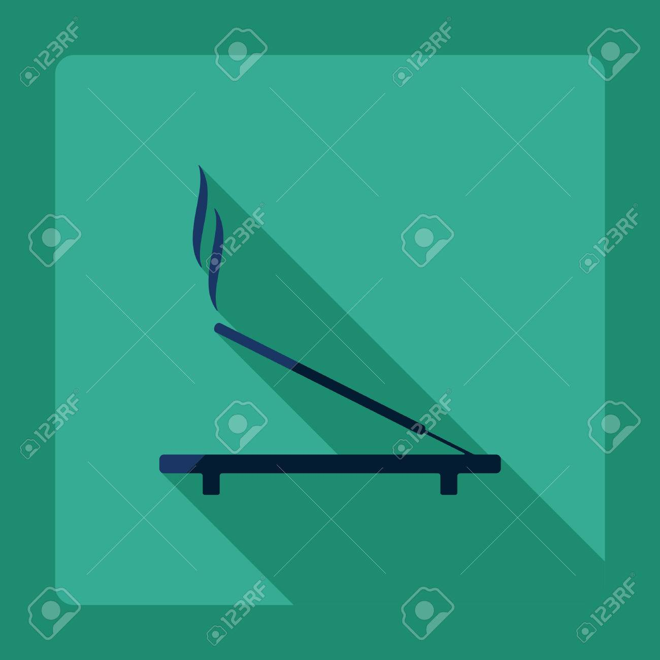Flat Modern Design With Shadow Incense Sticks Royalty Free Cliparts Vectors And Stock Illustration Image 53023601
