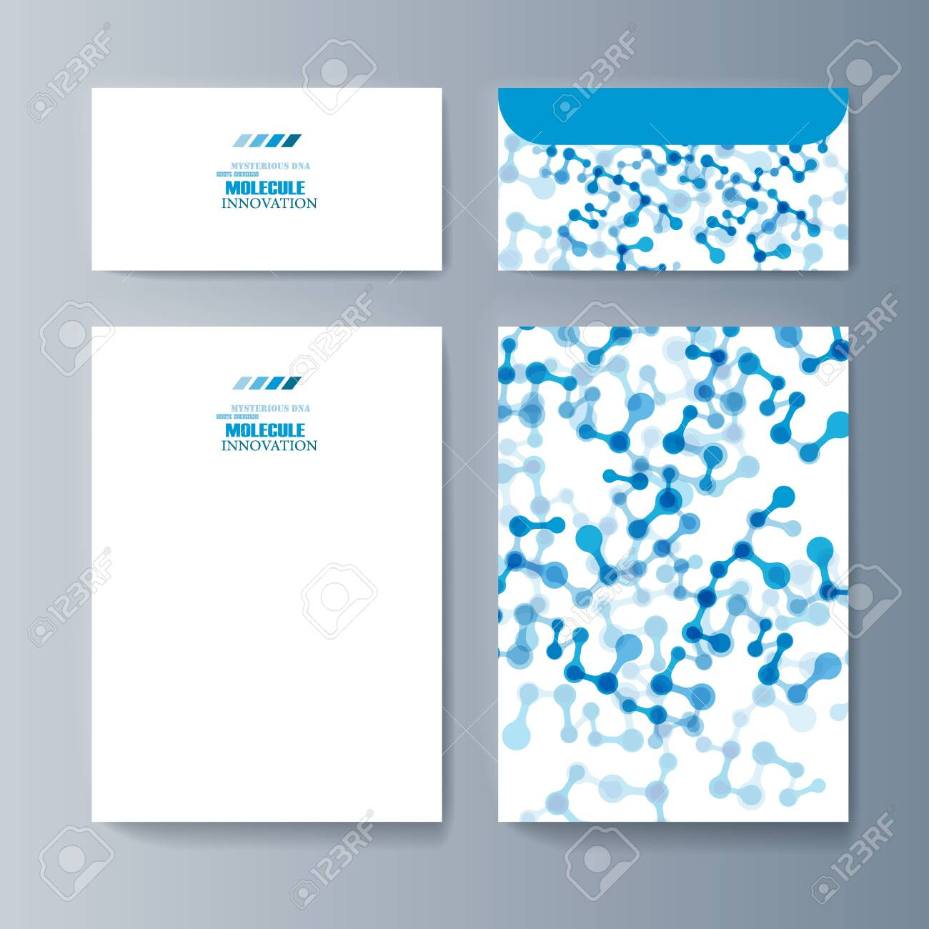 Set of brochures for marketing the promotion goods and services