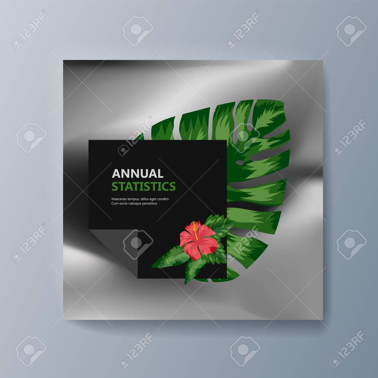 Tropical flowers classification plant description. Vector illustration - 133216430