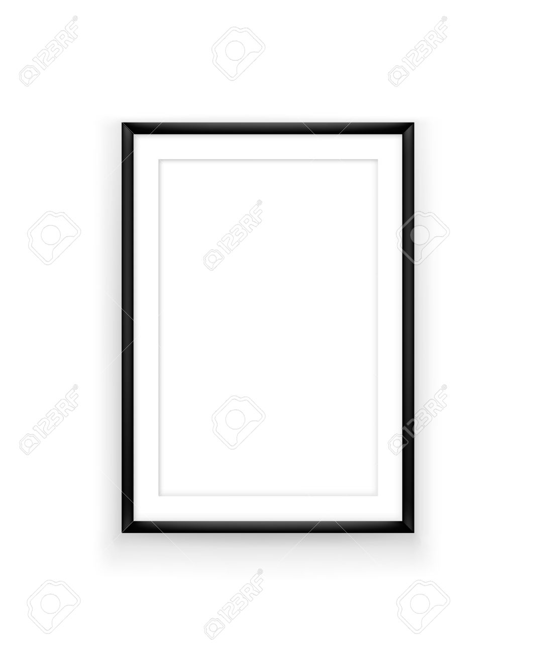 poster frame design template for exhibition or advertising picture frame mock up on white background - White Poster Frame
