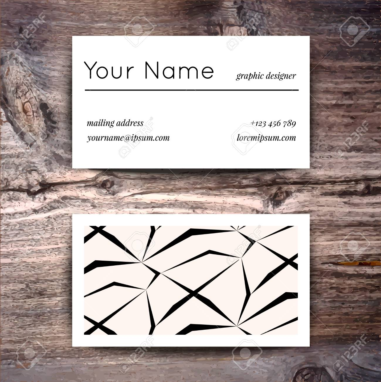 Business Card Template With Creative White And Black Retro Pattern ...