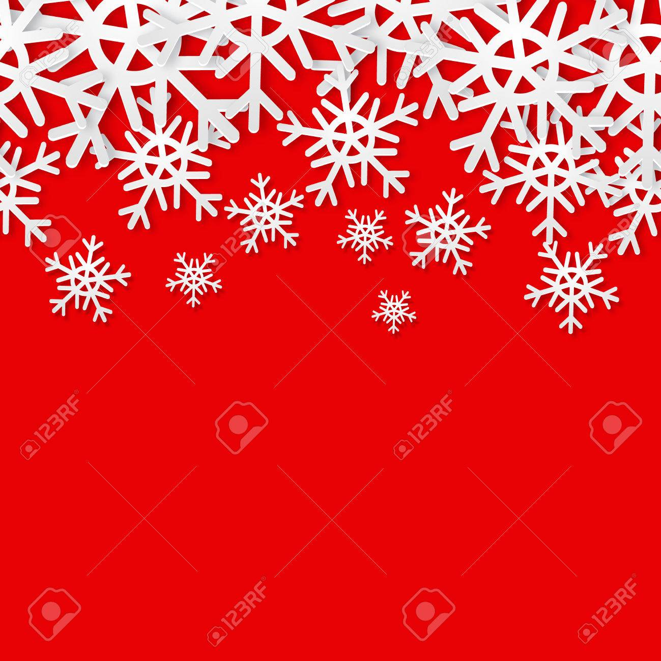 Super Snowflakes Seamless Border. Christmas Holiday Background. Sale  CG43