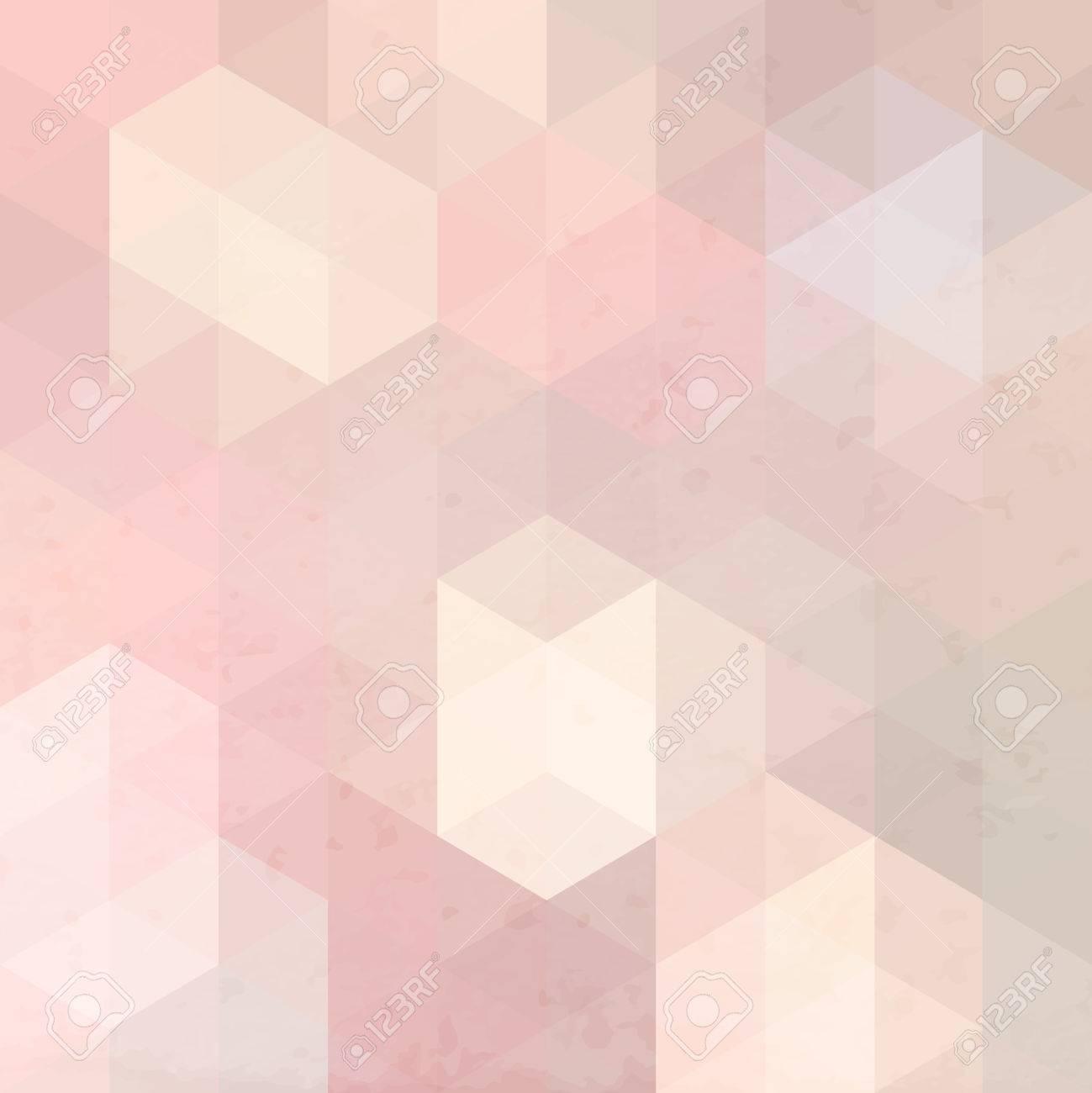 Retro Fond Geometrique Rose Avec Grunge Texture Papier Peint