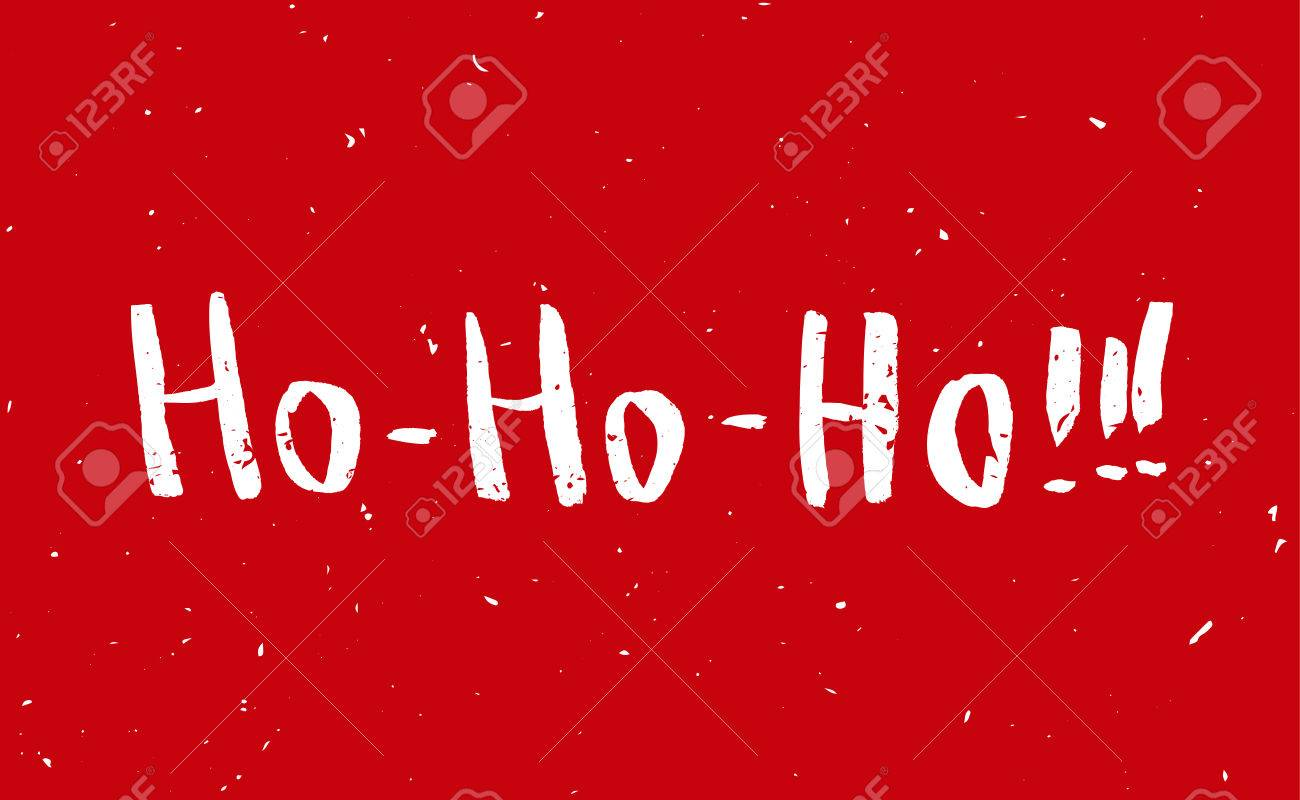 Red Greeting Christmas Card With Hand-drawn Typography Lettering ...