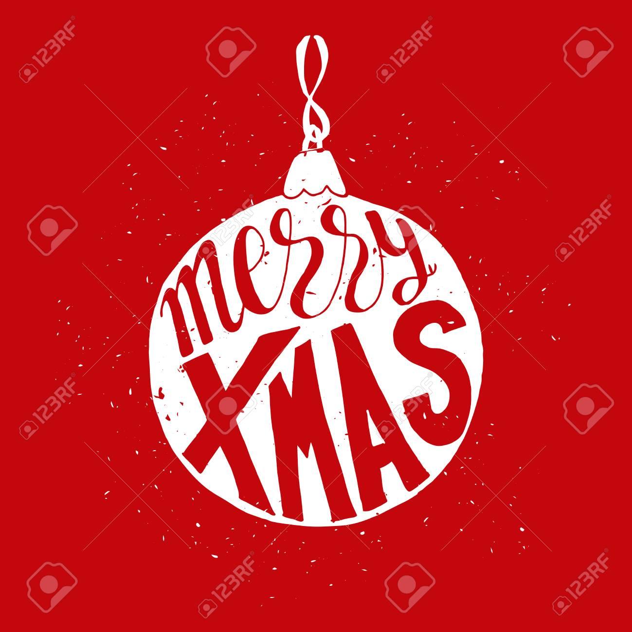 Nette Gruß-Weihnachtskarte Mit Ball Mit Schmutzbeschaffenheit Und ...