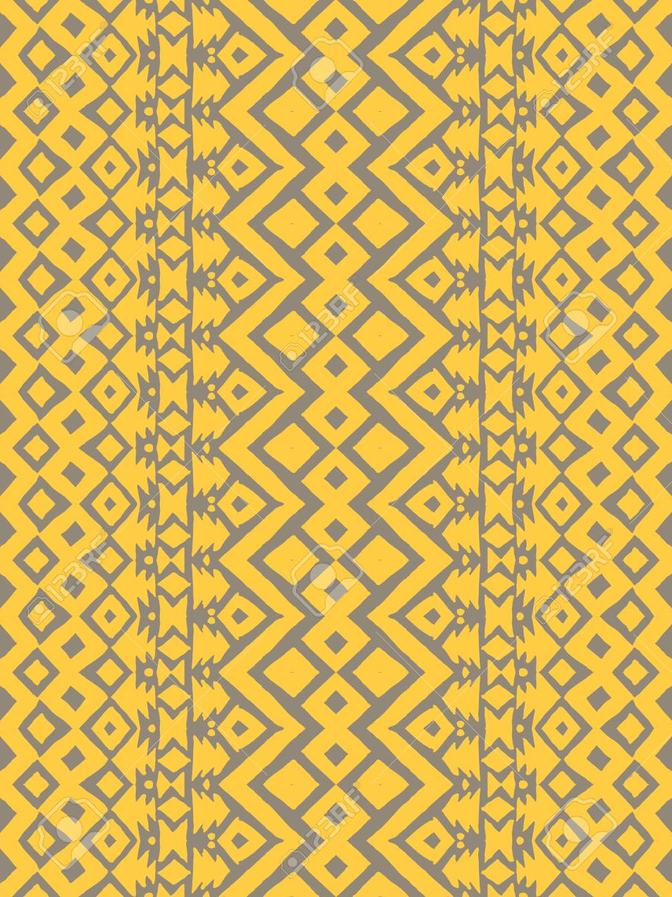 Golden Aztec tribal mexican seamless pattern  Hipster boho chic