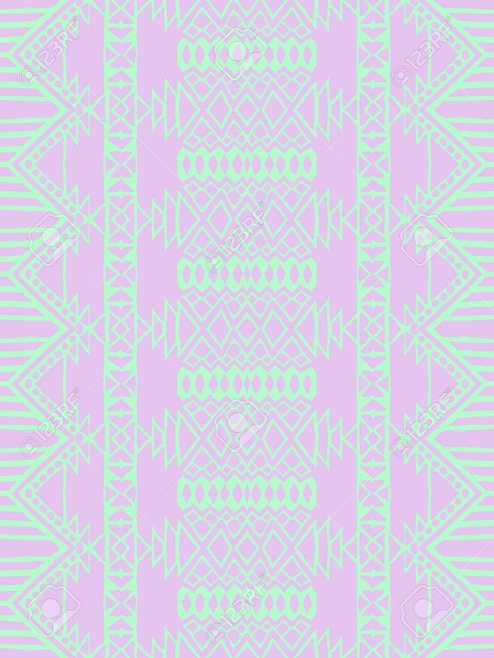se rosa minze aztec stammes mexikanischen nahtlose muster hipster boho chic hintergrund trendy layout art luxus druck hintergrund papier - Bastelpapier Muster
