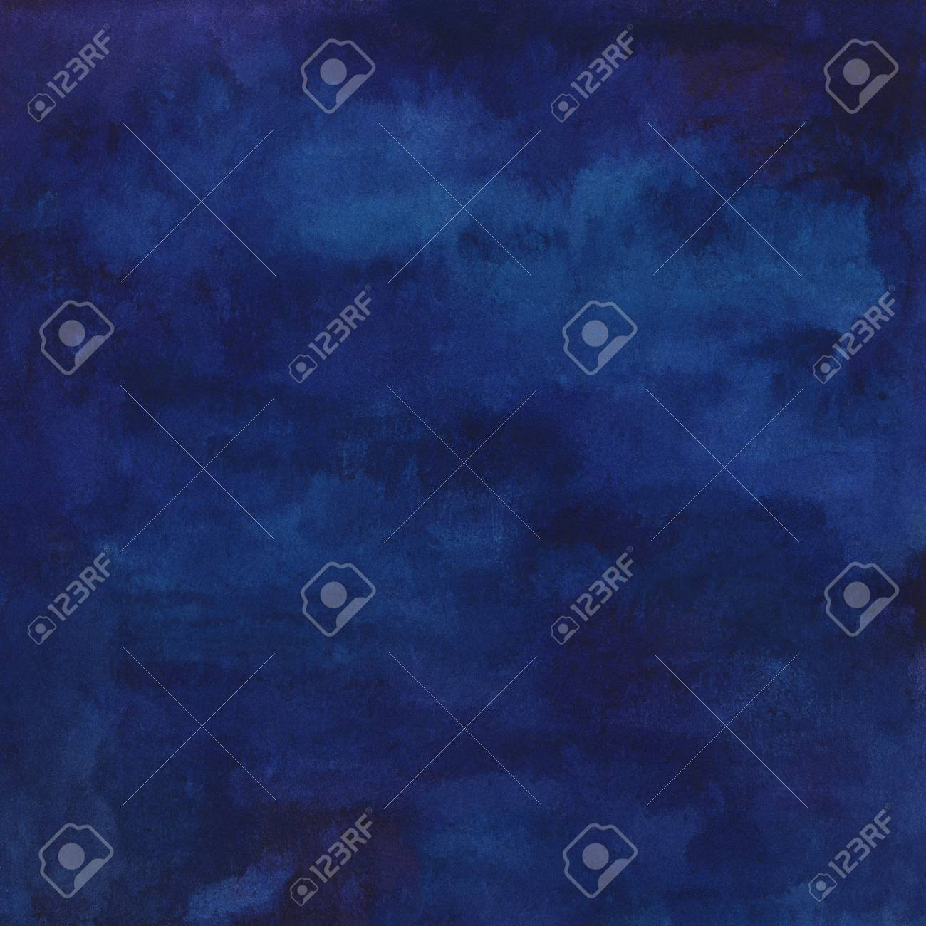 Hand Painted Watercolor Abstract Navy Blue Background For Your