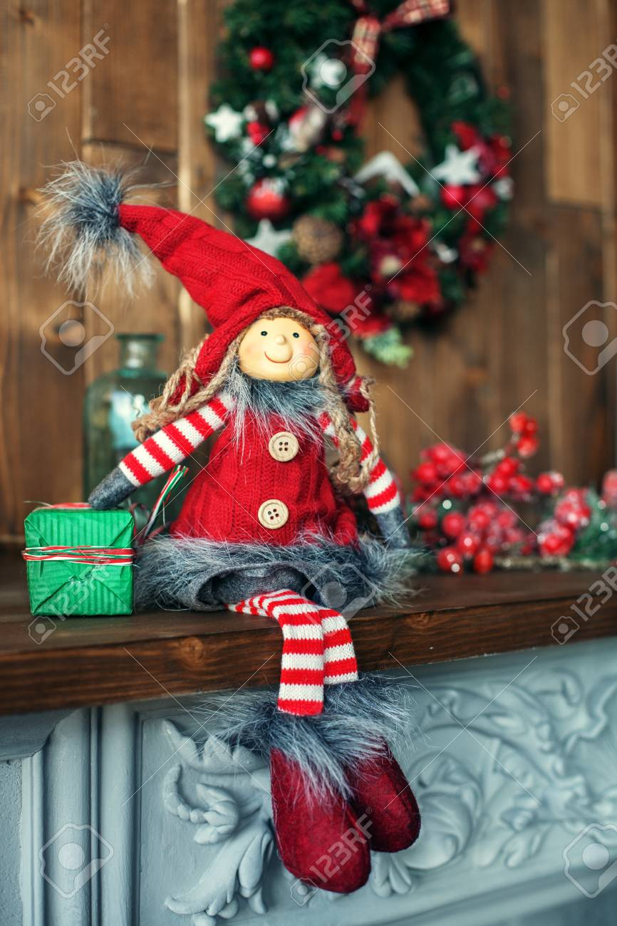 Christmas Gnome.Background Christmas Gnome The Concept Of Christmas And New