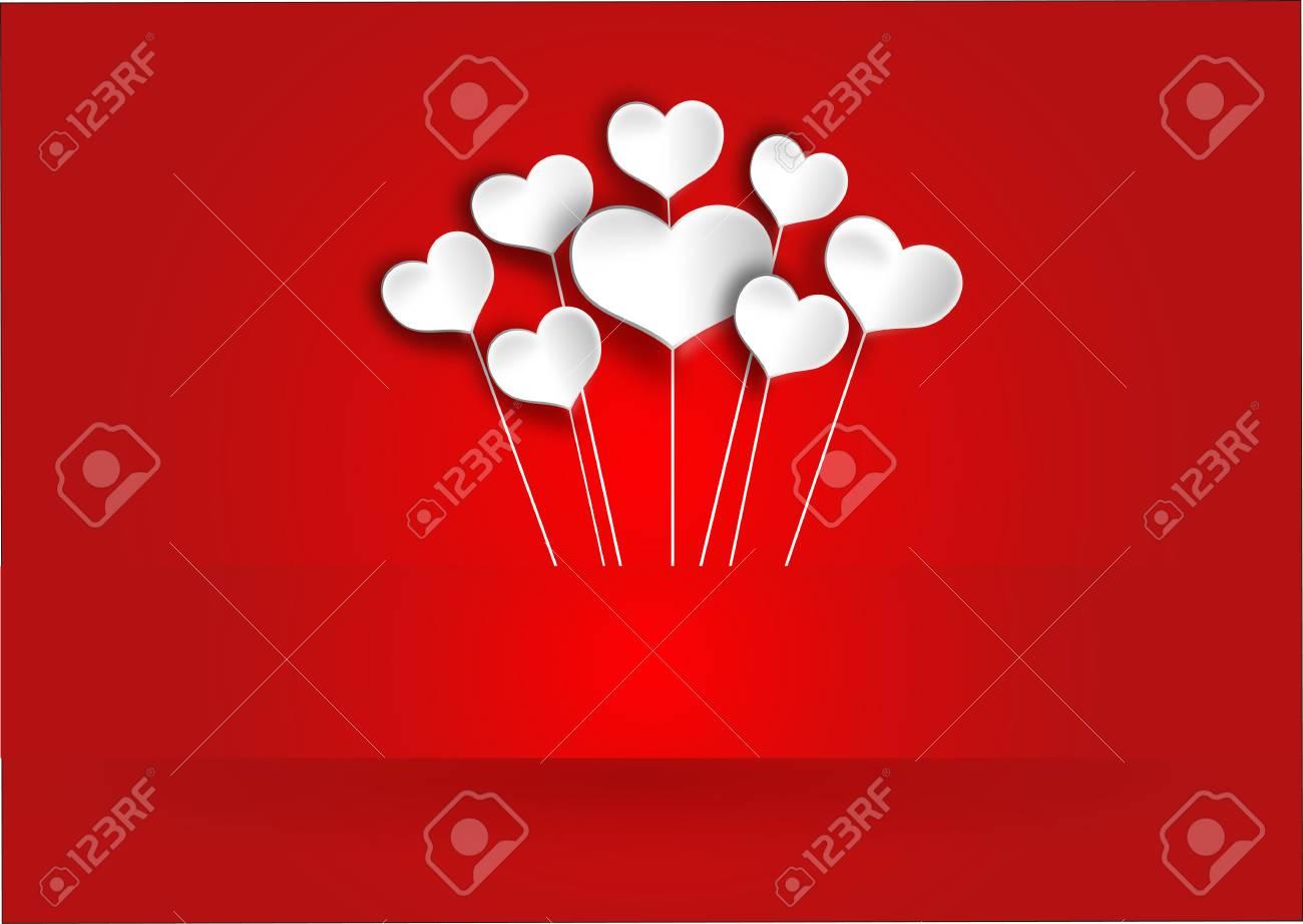 Bonitos Corazones Blancos Para El Día De San Valentín Fotos