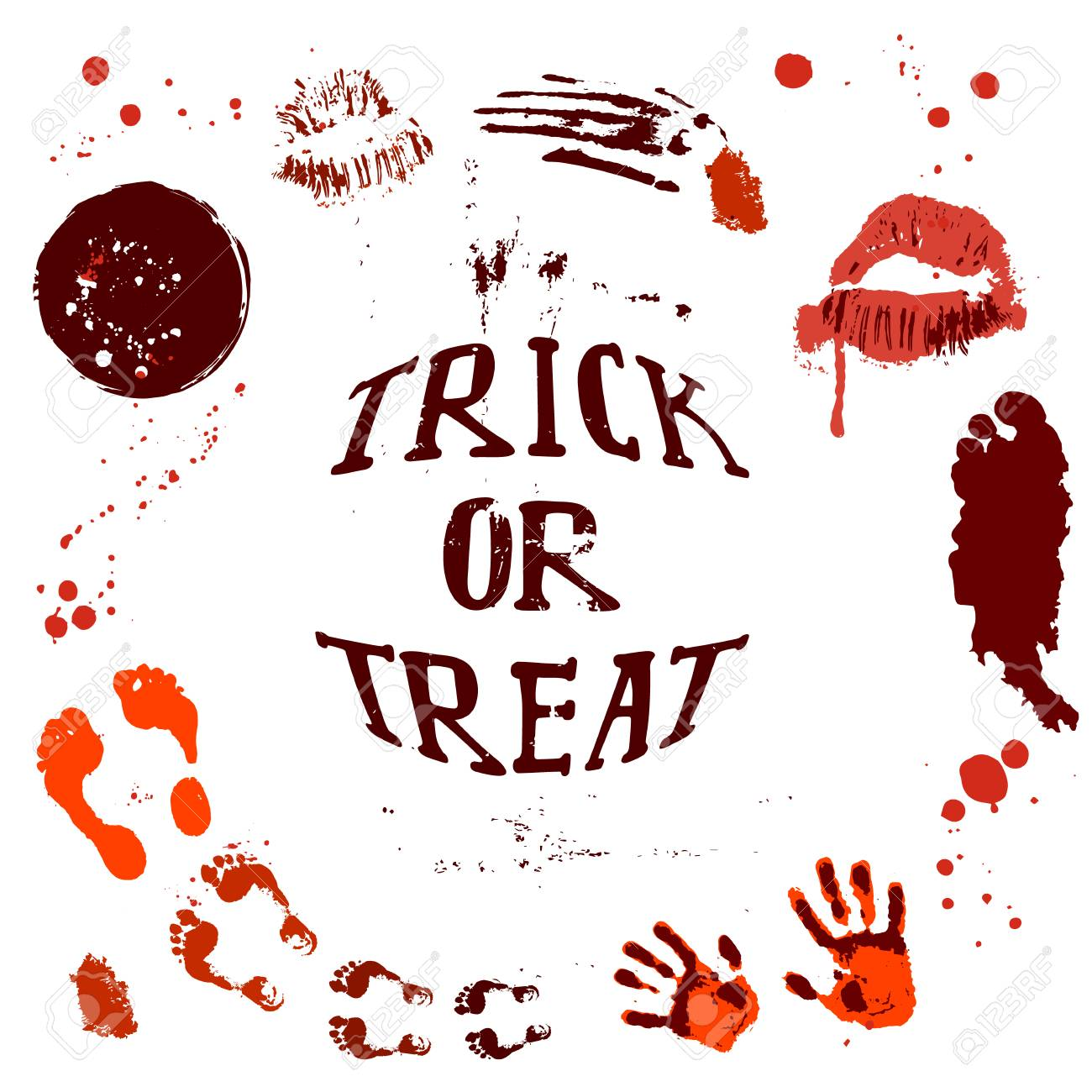 Vector Of Halloween Poster Designs With Halloween Symbols And
