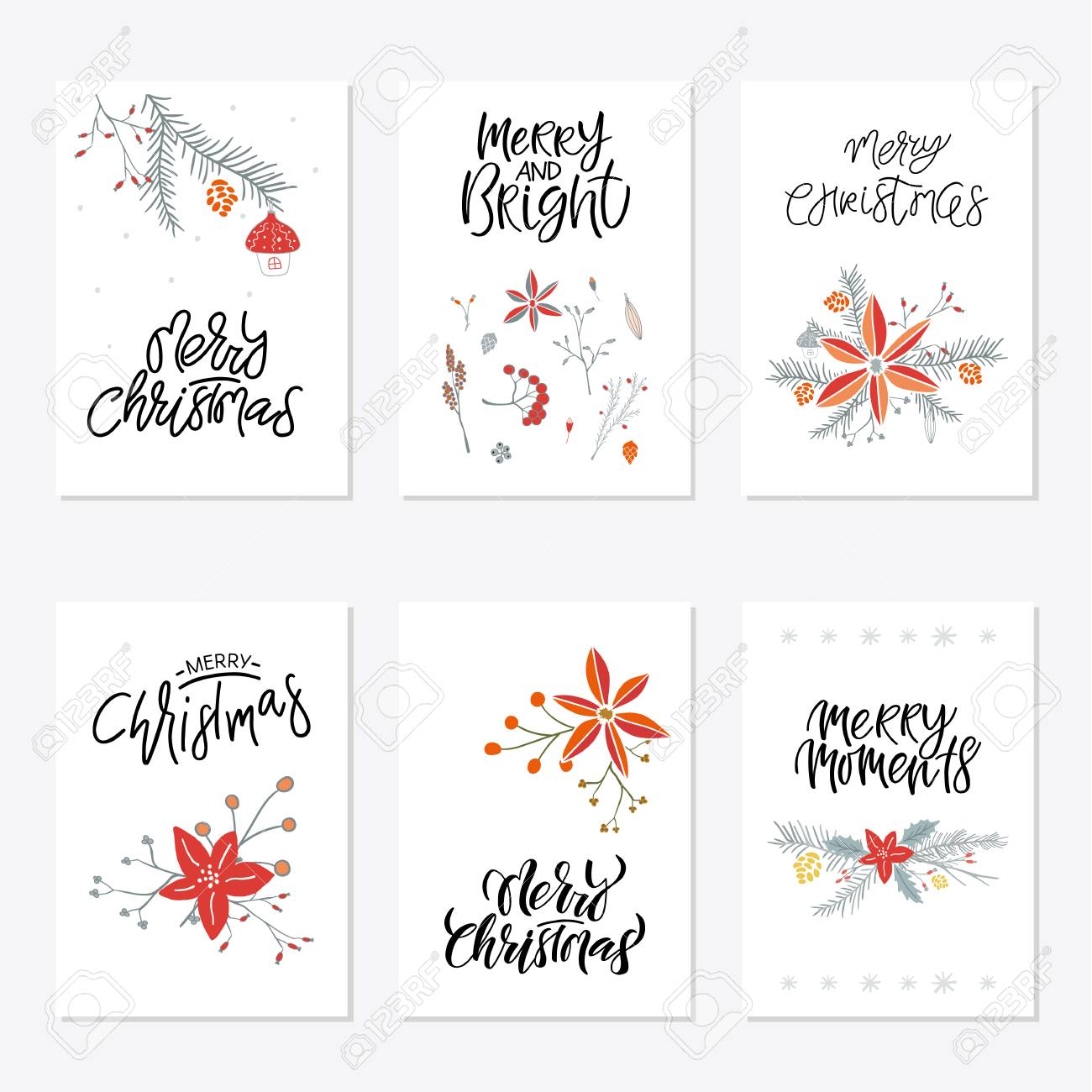photo about Merry Christmas Printable known as Range of 6 adorable Merry Xmas present playing cards. Fixed of 6 printable..