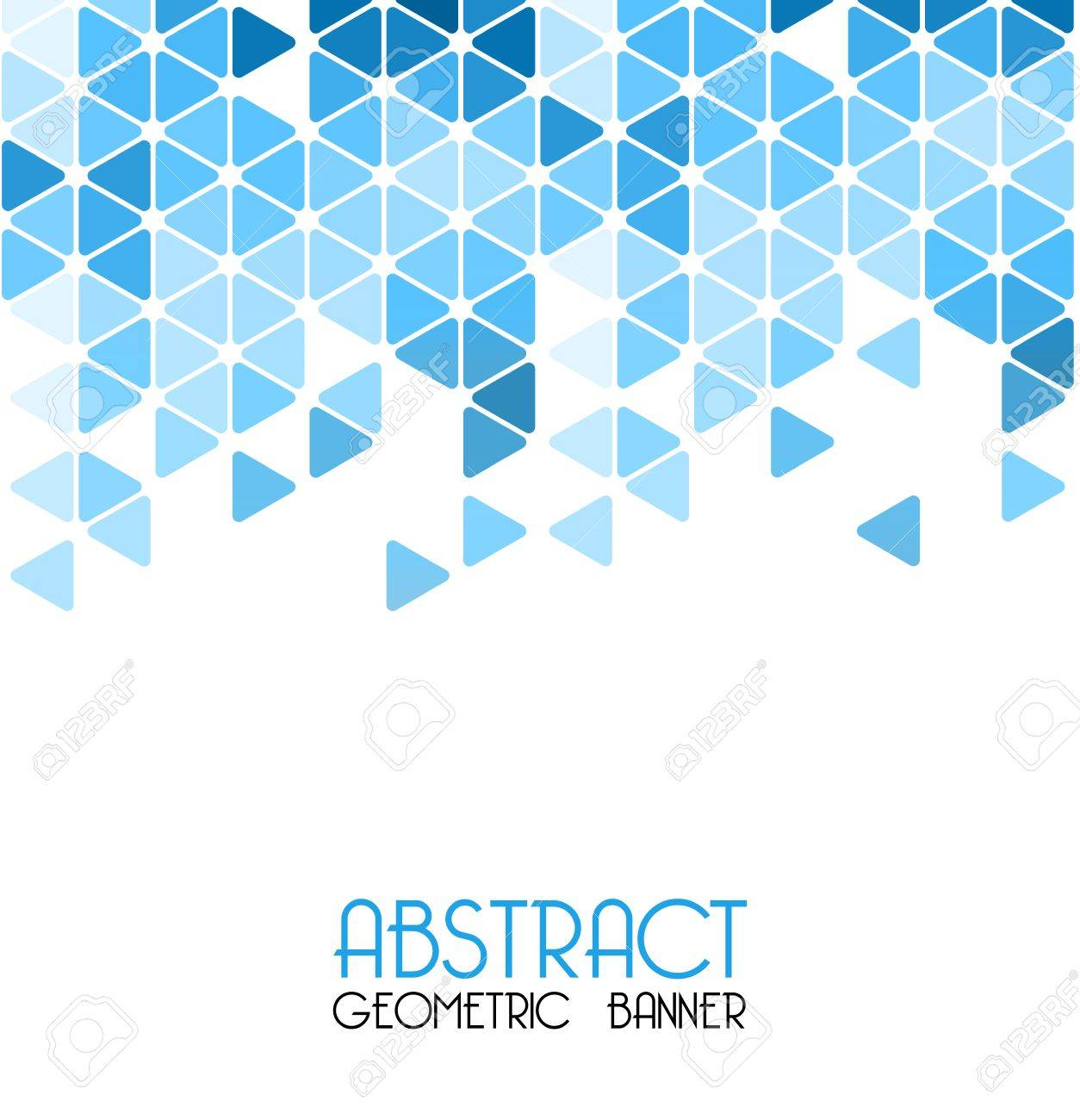 vector abstract blue retro geometric background. template design
