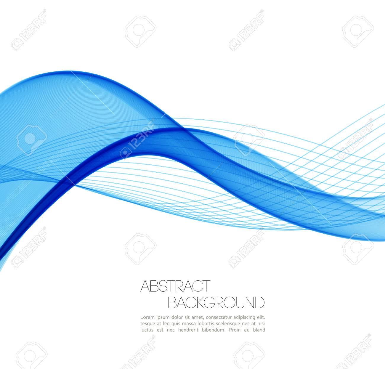 Vector Zusammenfassung Wellen Hintergrund. Vorlage Geschäft ...