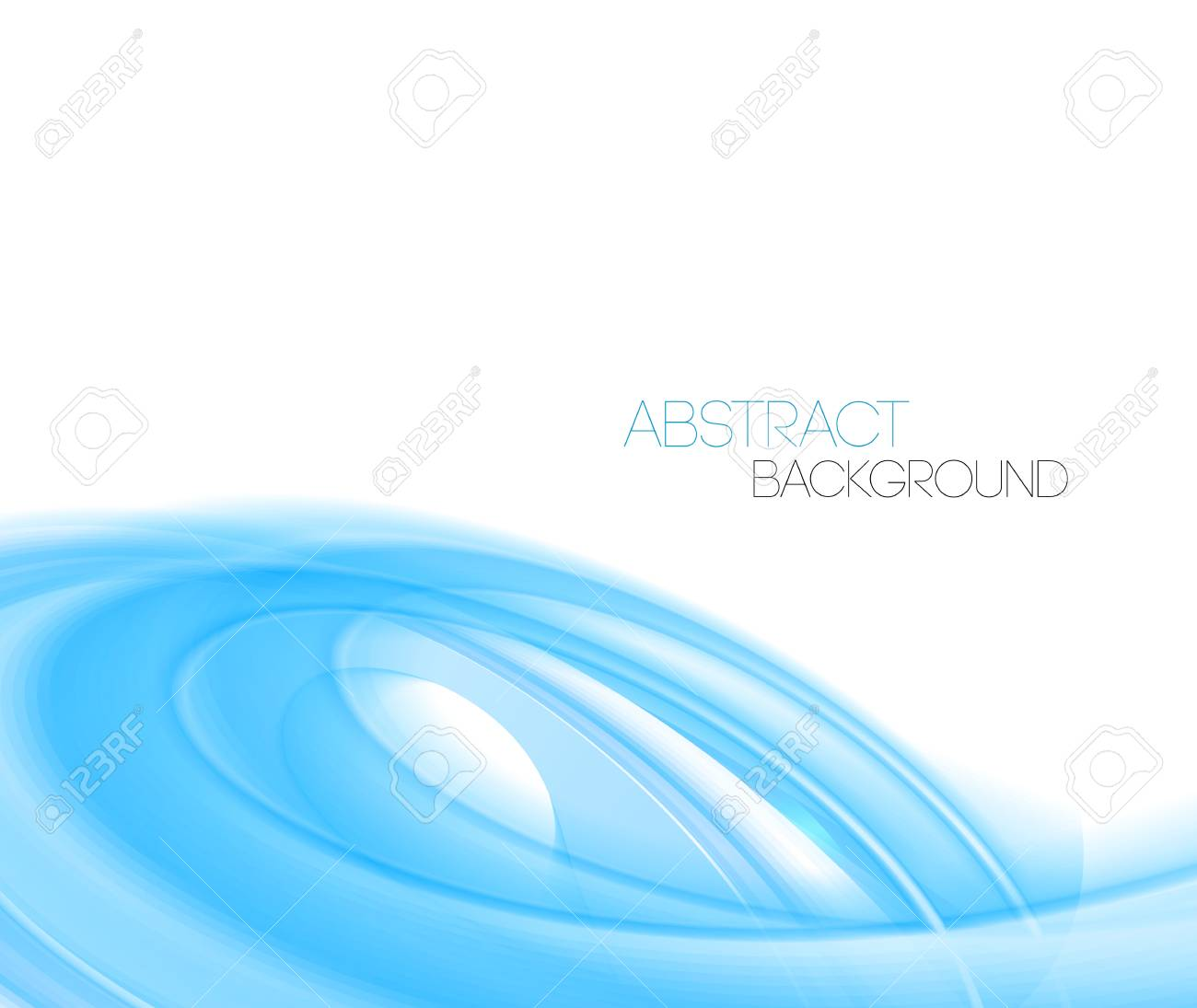 vector blue abstract curved lines background. template design