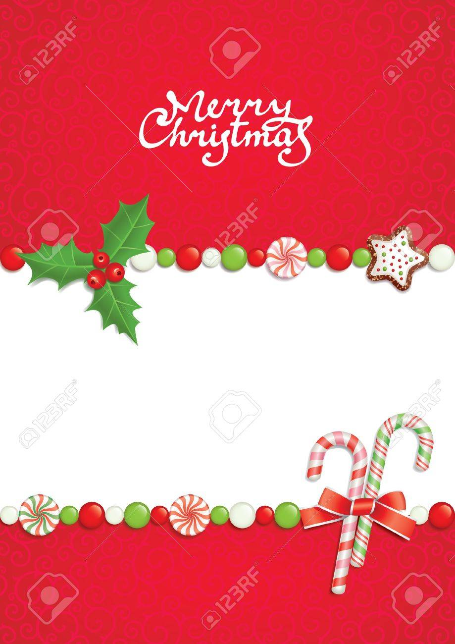 Christmas postal with greeting inscription Stock Vector - 8139600