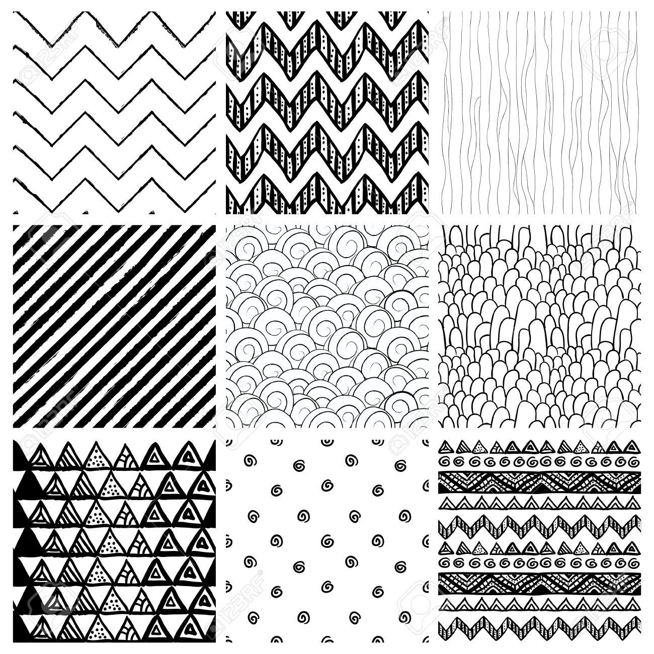 99 Cool Black And White Patterns To Example Resume And Cover Letter