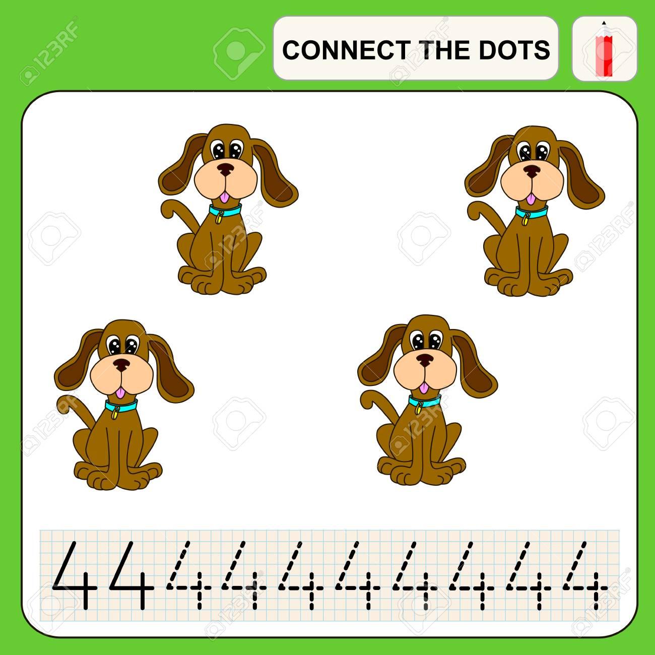 Verbinde Die Punkte, Vorschule Übungsaufgabe Für Kinder, Zahlen ...