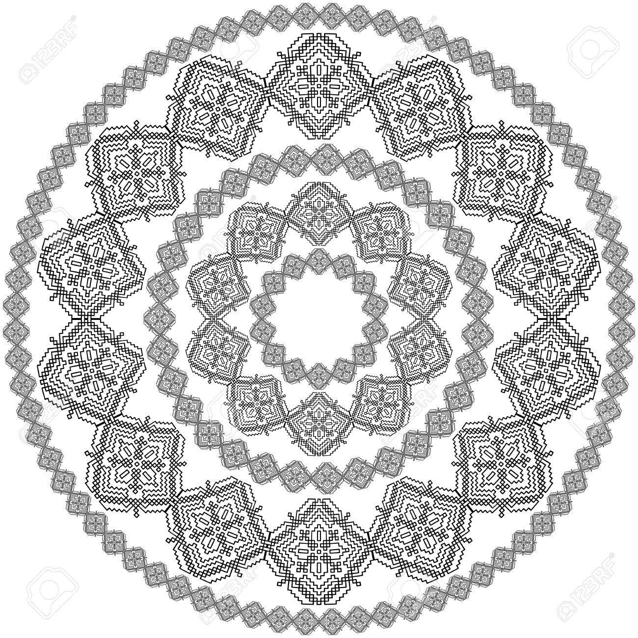 Black Mandala For Coloring. Mandala Vector Coloring Page. Mandala ...