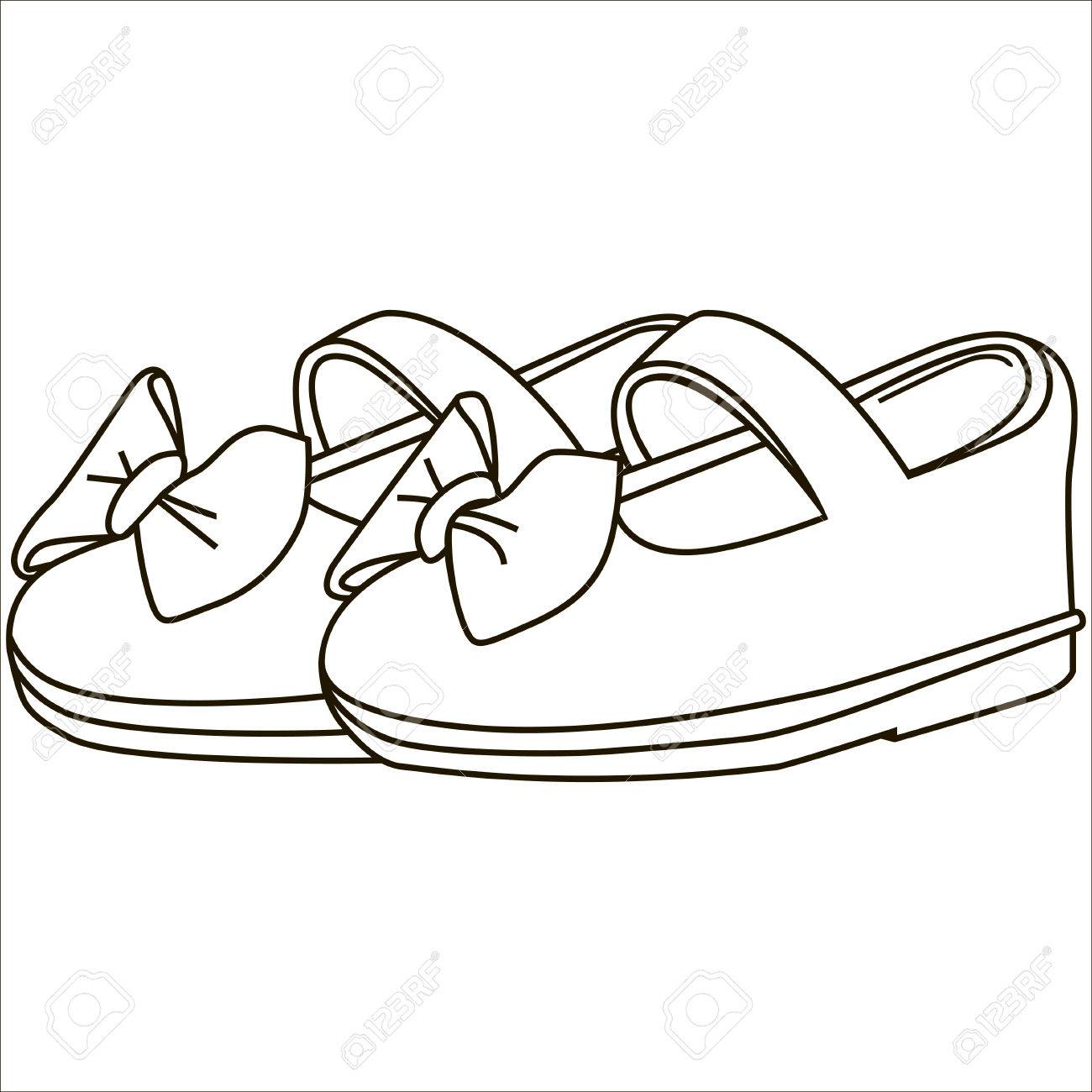 Baby Shoes Vector Isolated Illustration Black Royalty Free Cliparts Vectors And Stock Illustration Image 69113379