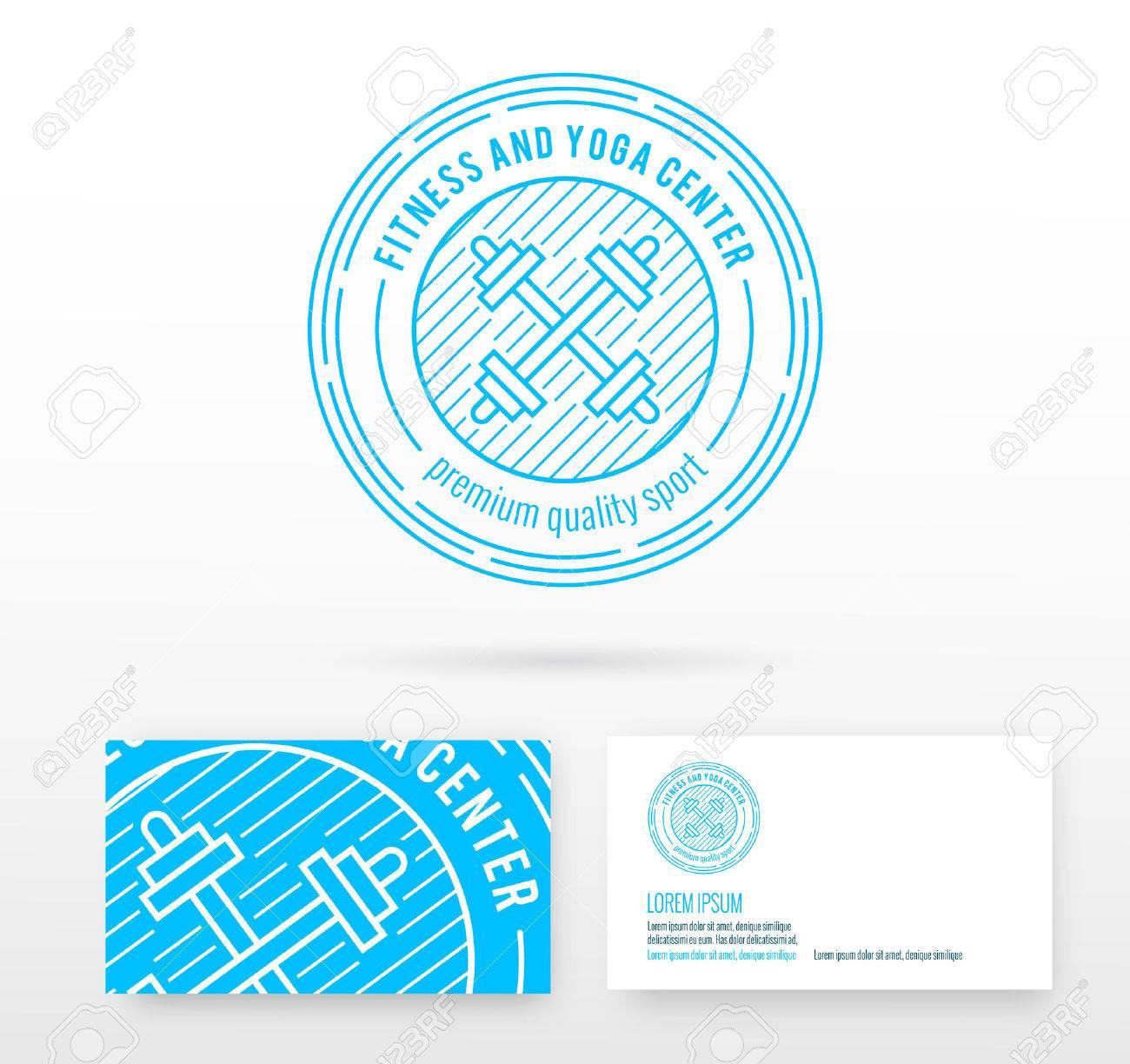 Fitness Logo Lments De Conception Vecteur Badge Avec Modle