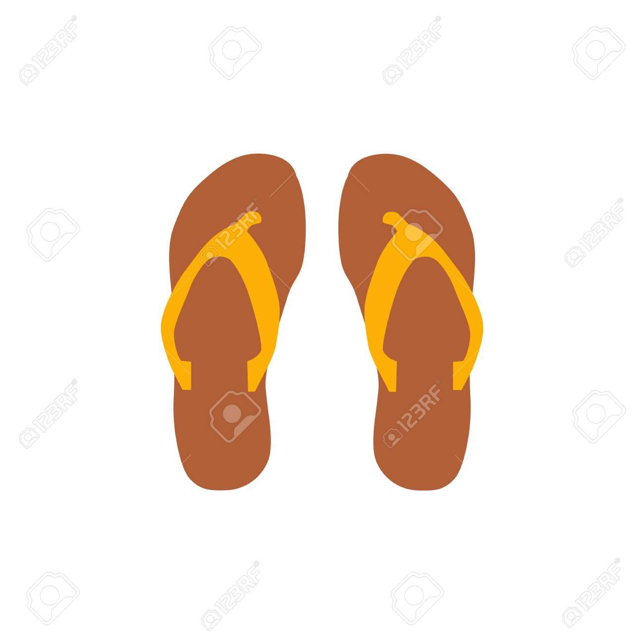 46dfdde0ef7601 Beach slippers icon vector illustration Beach slippers icon isolated. Beach  slippers summer symbol. Beach