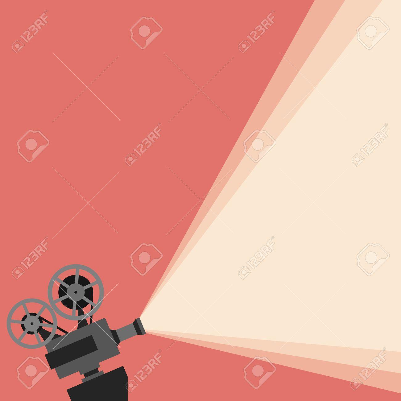 Movie projector vector illustration. Movie projector vector concept. Movie projector background cinema illustration. Movie projector vintage poster. Vector movie projector background for your design. - 55699748