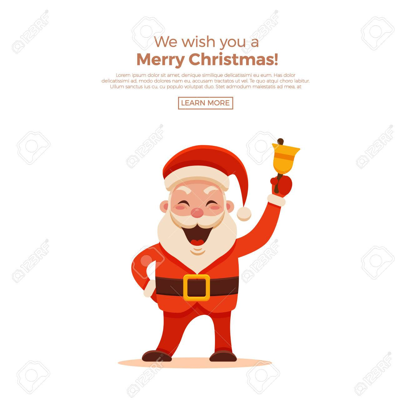 Cartoon Santa Claus For Your Christmas And New Year Greeting Design Or  Animation. Vector Isolated