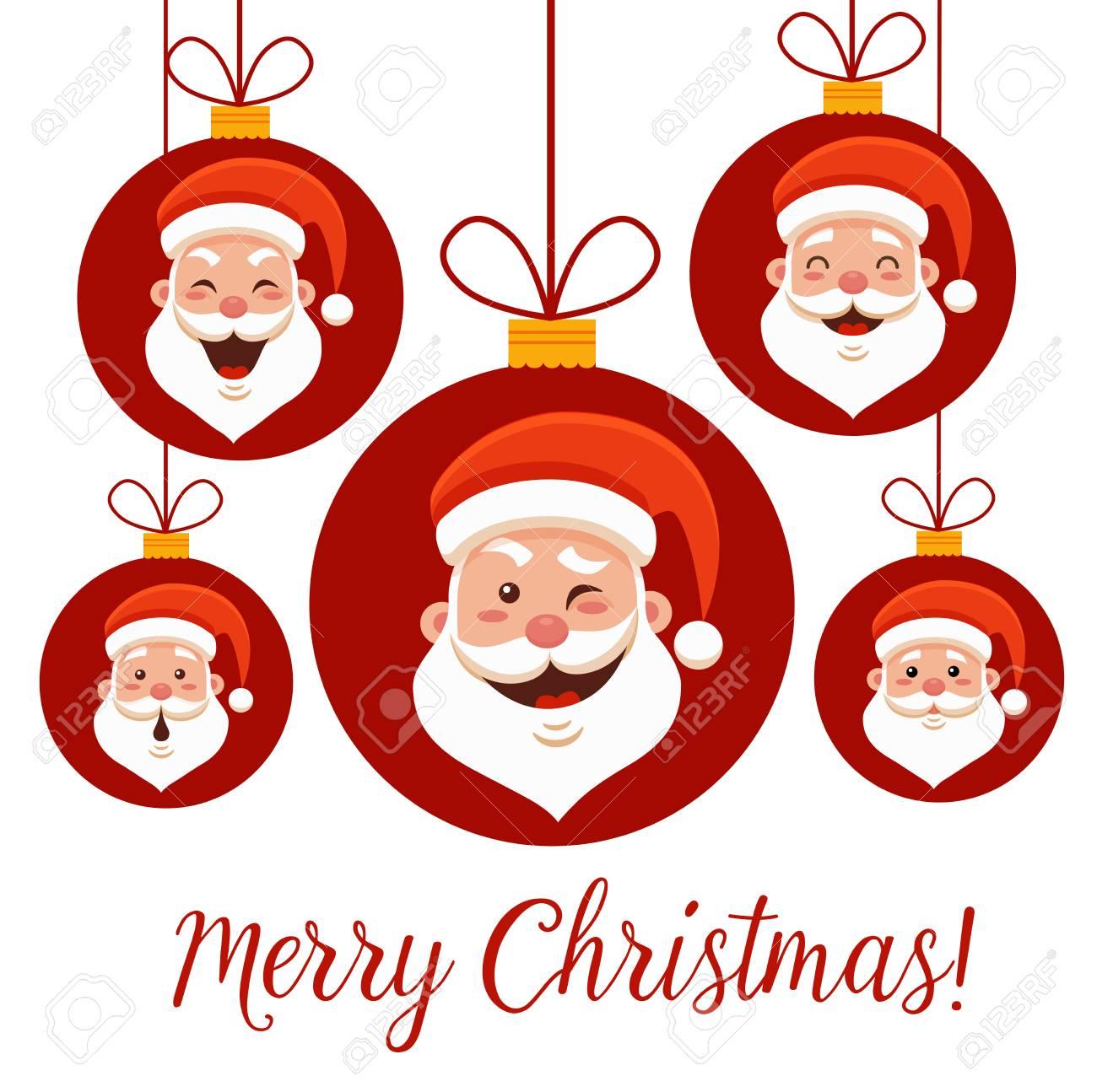 Karikatur Santa Claus-Gefühle Stellten Für Ihr Weihnachts- Und ...