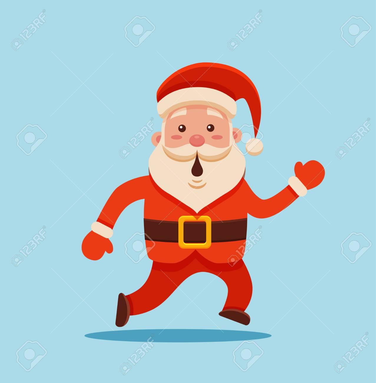 Cartoon Santa Claus Für Ihr Weihnachts- Und Neujahrsgrüße Design ...