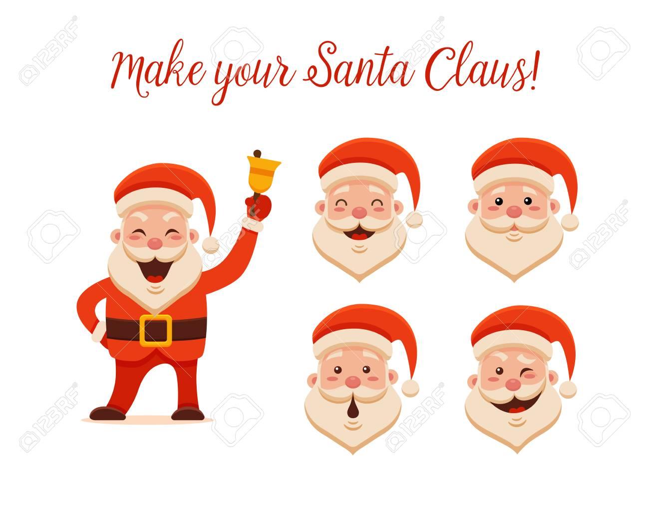 Desenhos Animados Papai Noel Para Seu Natal E Ano Novo Saudacao