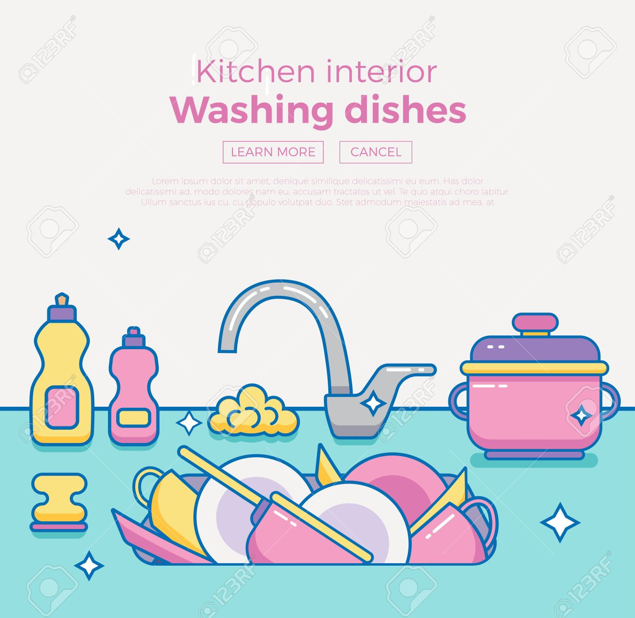 Kitchen Sink With Clean Dishes dishes kitchen sink clipart | home design ideas