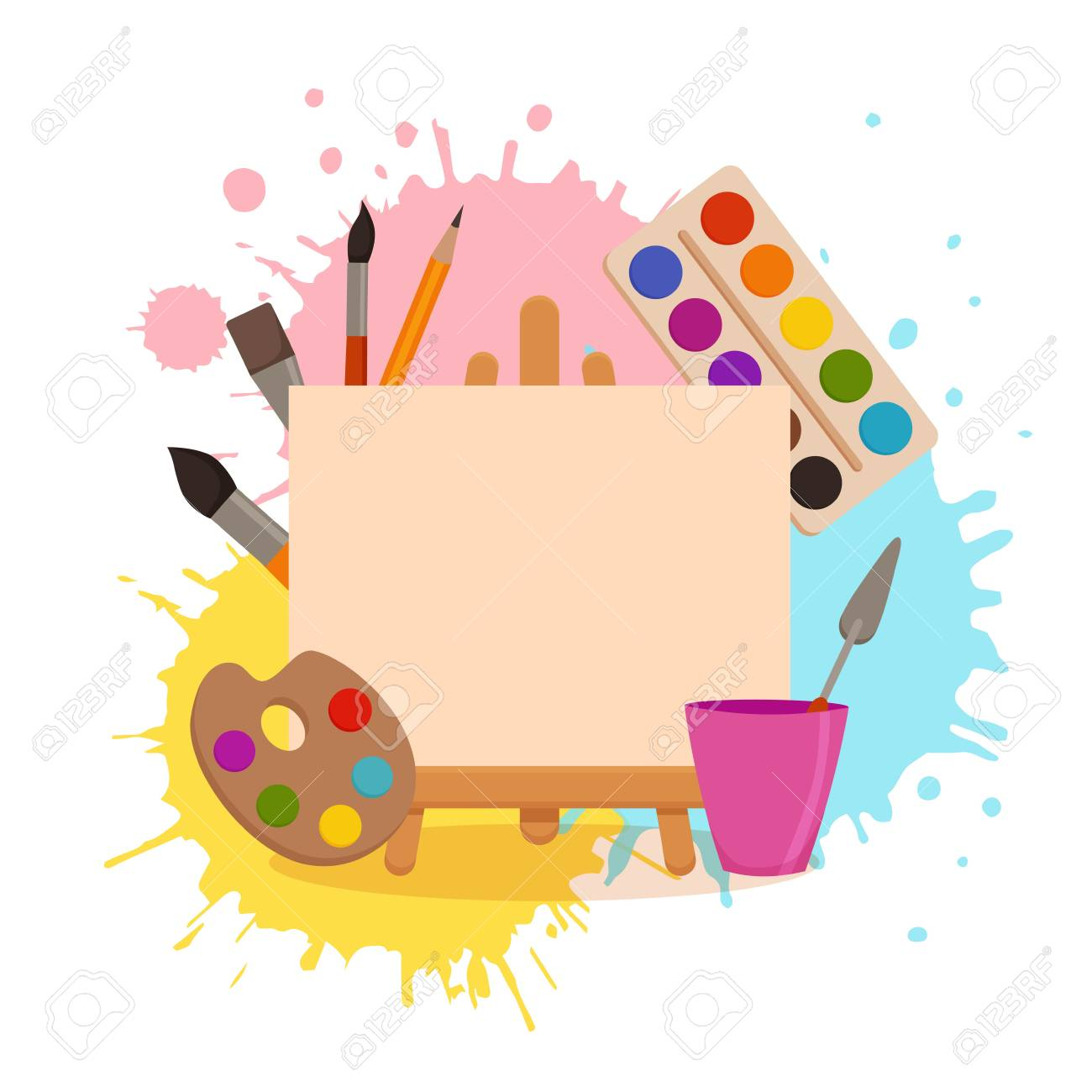 Colorful Background Drawing Designs