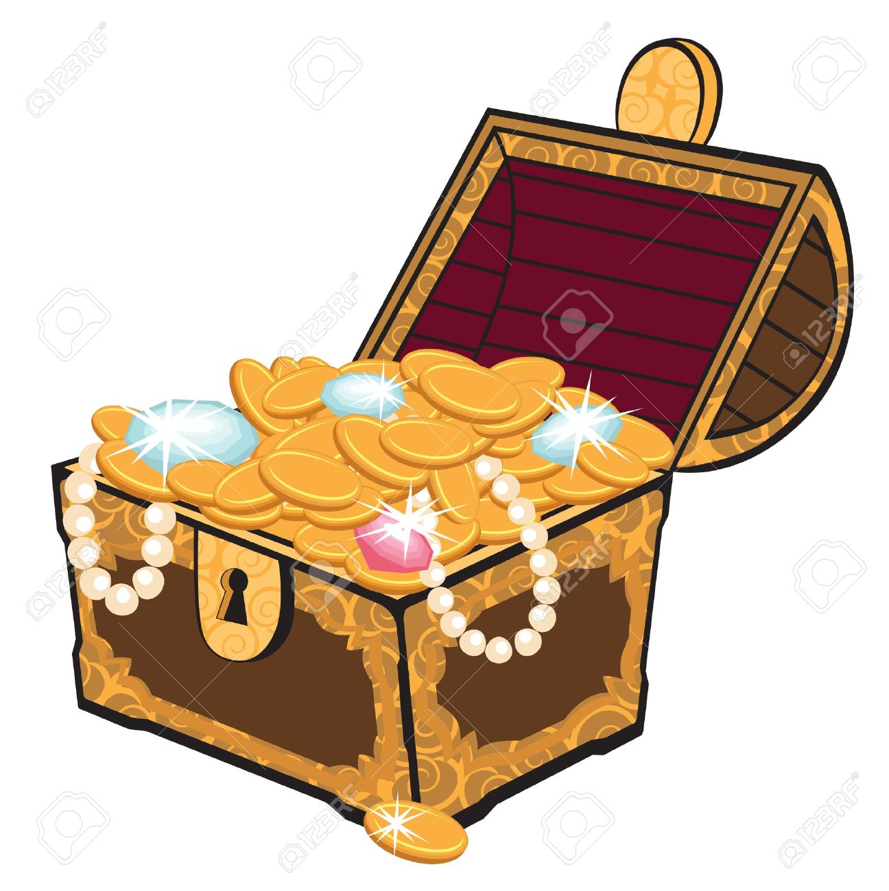 treasure chest royalty free cliparts vectors and stock