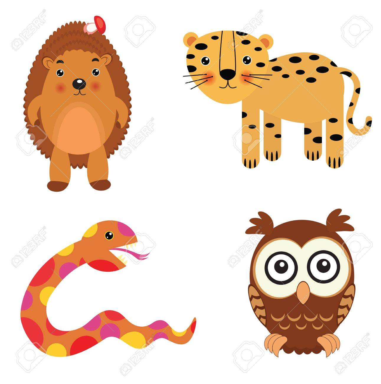 Fun animals set Stock Vector - 11012528